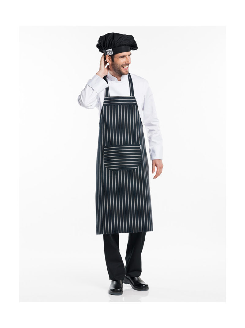 Chaud Devant bib apron Big Stripe 538
